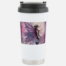 Starlit Amethyst Fairy Art Travel Mug