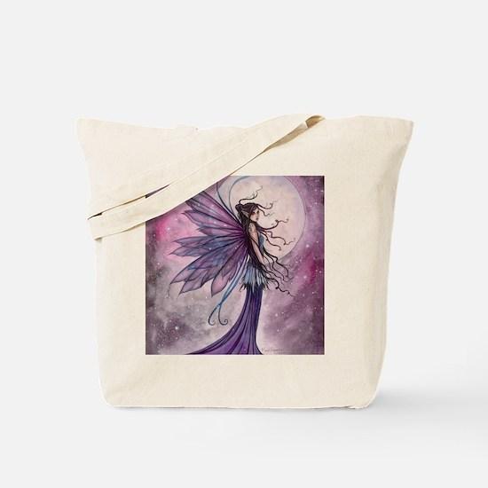 Starlit Amethyst Fairy Art Tote Bag