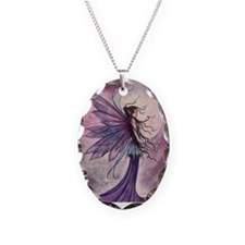 Starlit Amethyst Fairy Art Necklace