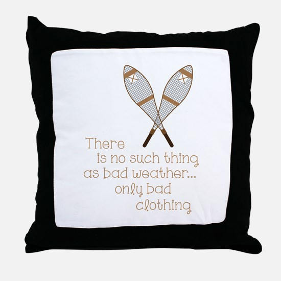 Bad Weather Throw Pillow