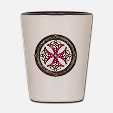 Fabulous Pink Celtic Cross Shot Glass
