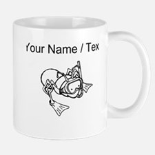 Custom Ant Wearing Snorkel Mugs