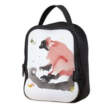 Red ruffed Lemur Neoprene Lunch Bag
