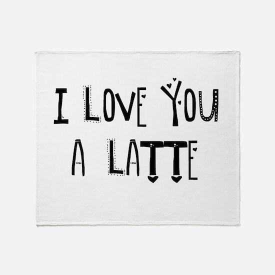Cute Latte Throw Blanket