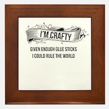 I'm Crafty Framed Tile