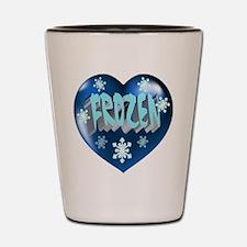 Blue Frozen Heart Shot Glass