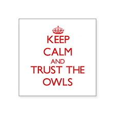 "Unique Owls Square Sticker 3"" x 3"""