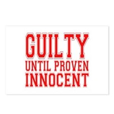 Guilty Until Proven Innocent Postcards (Package of