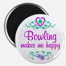 """Bowling Happy 2.25"""" Magnet (10 pack)"""