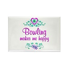 Bowling Happy Rectangle Magnet