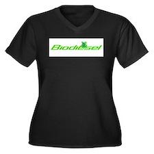 Biodiesel frog classic Women's Plus Size V-Neck Da
