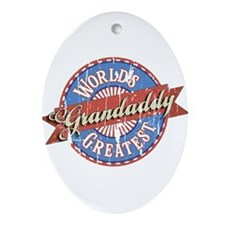 World's Greatest Grandaddy Ornament (Oval)
