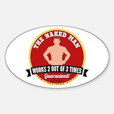HIMYM Naked Man Sticker (Oval)