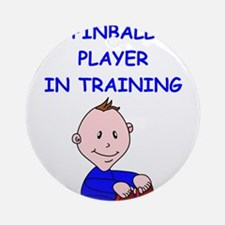 i love pinball Ornament (Round)