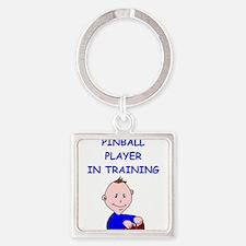 i love pinball Keychains