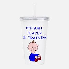 I Love Pinball Acrylic Double-Wall Tumbler