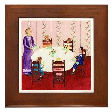 Izzie's Sewing Club Has Lunch Framed Tile