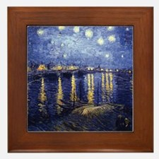 Starry Night Over the Rhone by Van Gogh Framed Til