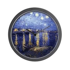 Starry Night Over the Rhone by Van Gogh Wall Clock