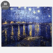 Starry Night Over the Rhone by Van Gogh Puzzle