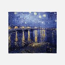 Starry Night Over the Rhone by Van Gogh Throw Blan
