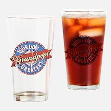 World's Greatest Grandpops Drinking Glass