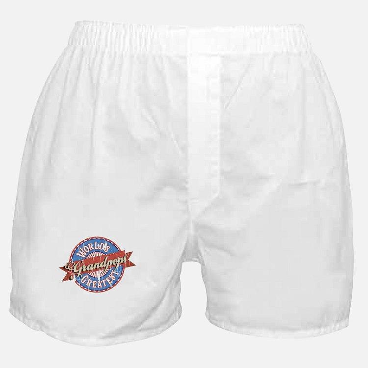 World's Greatest Grandpops Boxer Shorts