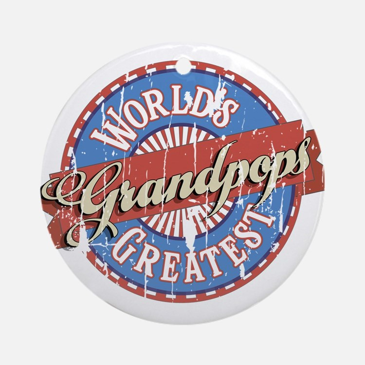 World's Greatest Grandpops Ornament (Round)