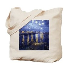 Starry Night Over the Rhone by Van Gogh Tote Bag
