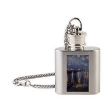 Starry Night Over the Rhone by Van Gogh Flask Neck