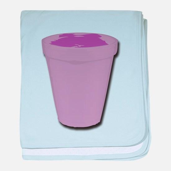 Purple cup baby blanket