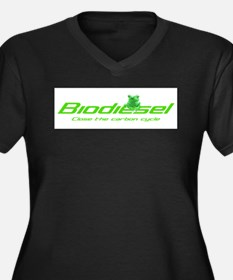 "Biodiesel ""Carbon Cycle"" Women's Plus Size V-Neck"