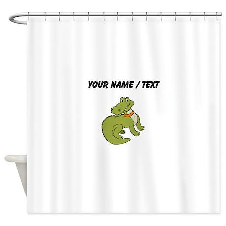 Awesome Custom Pet Alligator Shower Curtain