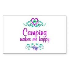 Camping Happy Decal