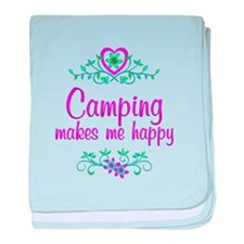 Camping Happy baby blanket