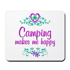 Camping Happy Mousepad