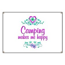 Camping Happy Banner