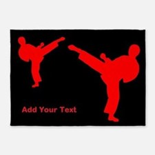 Martial Arts Personalized 5'x7'Area Rug