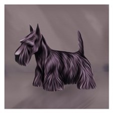 Oil Painted Scottie 5.25 X Flat Cards Invitations