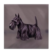 Oil Painted Scottish Terrier, Scottie Tile Coaster