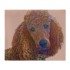 RED POODLE LOVE Throw Blanket