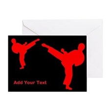 Karate Personalized Blank Interior Greeting Cards