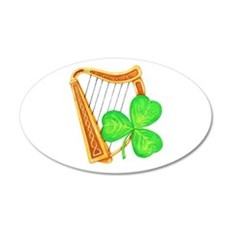 Harp and Clover Wall Decal