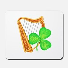 Harp and Clover Mousepad