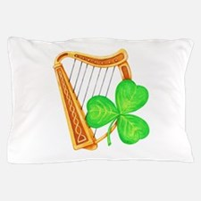 Harp and Clover Pillow Case