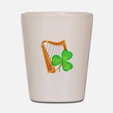 Harp and Clover Shot Glass