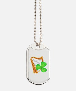 Harp and Clover Dog Tags