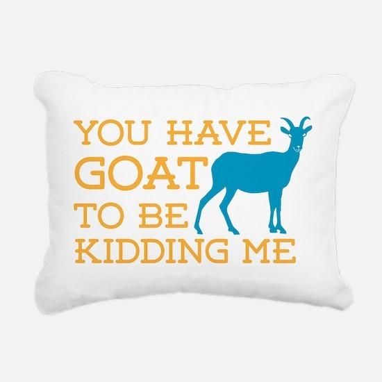 Goat Kidding Me Rectangular Canvas Pillow