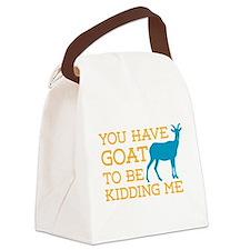 Goat Kidding Me Canvas Lunch Bag
