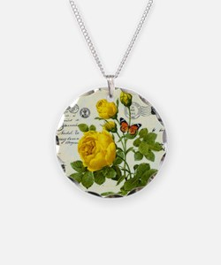 Cute Yellow rose Necklace